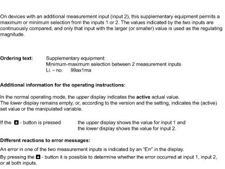 Minimum Gmbh supplementary equipment for series 9 maximum minimum selection